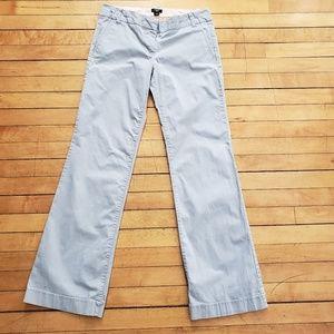 J. Crew Light Grey City Fit Cotton Pants 6R